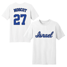 Load image into Gallery viewer, Men's Jon Moscot Name and Number T-Shirt - Blue, White