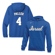 Load image into Gallery viewer, Youth Rob Paller Name and Number NIKE® Hoodie - Blue, White