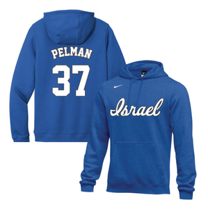 Men's Dean Pelman Name and Number NIKE® Hoodie - Blue, White