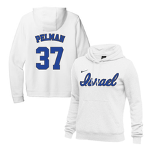 Load image into Gallery viewer, Women's Dean Pelman Name and Number NIKE® Hoodie - Blue, White