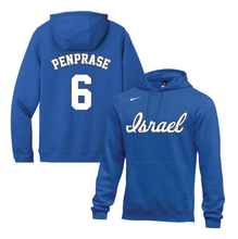 Load image into Gallery viewer, Youth Zach Penprase Name and Number NIKE® Hoodie - Blue, White