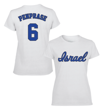 Load image into Gallery viewer, Women's Zach Penprase Name and Number T-Shirt - Blue, White