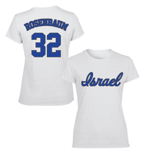 Load image into Gallery viewer, Women's Simon Rosenbaum Name and Number T-Shirt - Blue, White