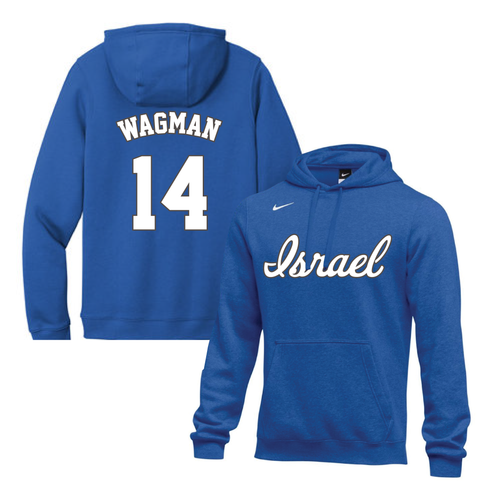 Youth Joey Wagman Name and Number NIKE® Hoodie - Blue, White