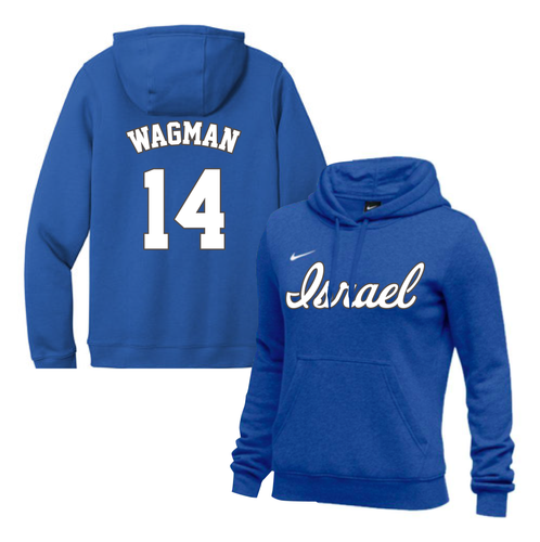 Women's Joey Wagman Name and Number NIKE® Hoodie - Blue, White
