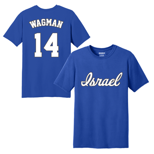 Youth Joey Wagman Name and Number T-Shirt - Blue, White