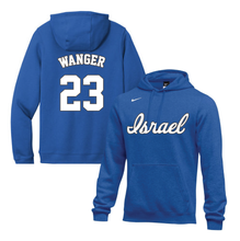 Load image into Gallery viewer, Youth Ben Wanger Name and Number NIKE® Hoodie - Blue, White