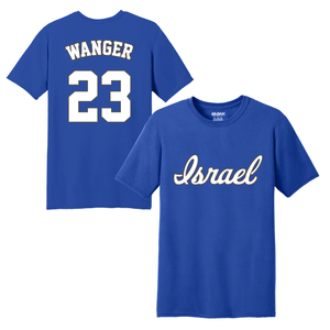 Men's Ben Wanger Name and Number T-Shirt - Blue, White