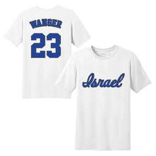 Load image into Gallery viewer, Men's Ben Wanger Name and Number T-Shirt - Blue, White