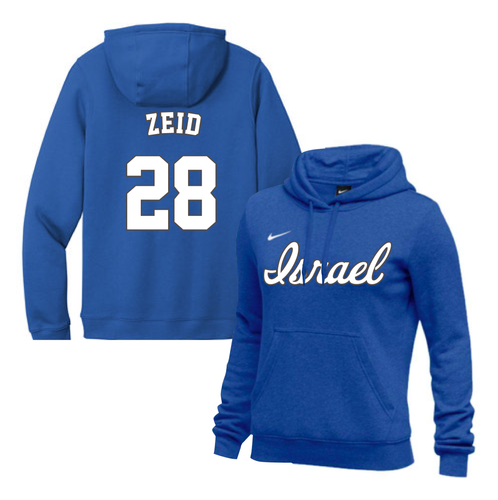 Women's Josh Zeid Name and Number NIKE® Hoodie - Blue, White
