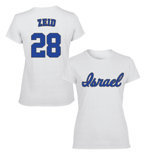Load image into Gallery viewer, Women's Josh Zeid Name and Number T-Shirt - Blue, White