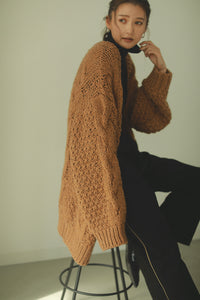 low gauge knit cardigan