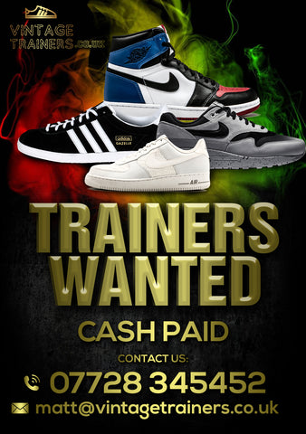 We want to buy your trainers / sneakers