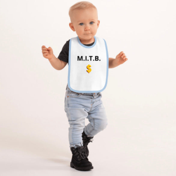 Embroidered M.I.T.B. Baby Bib