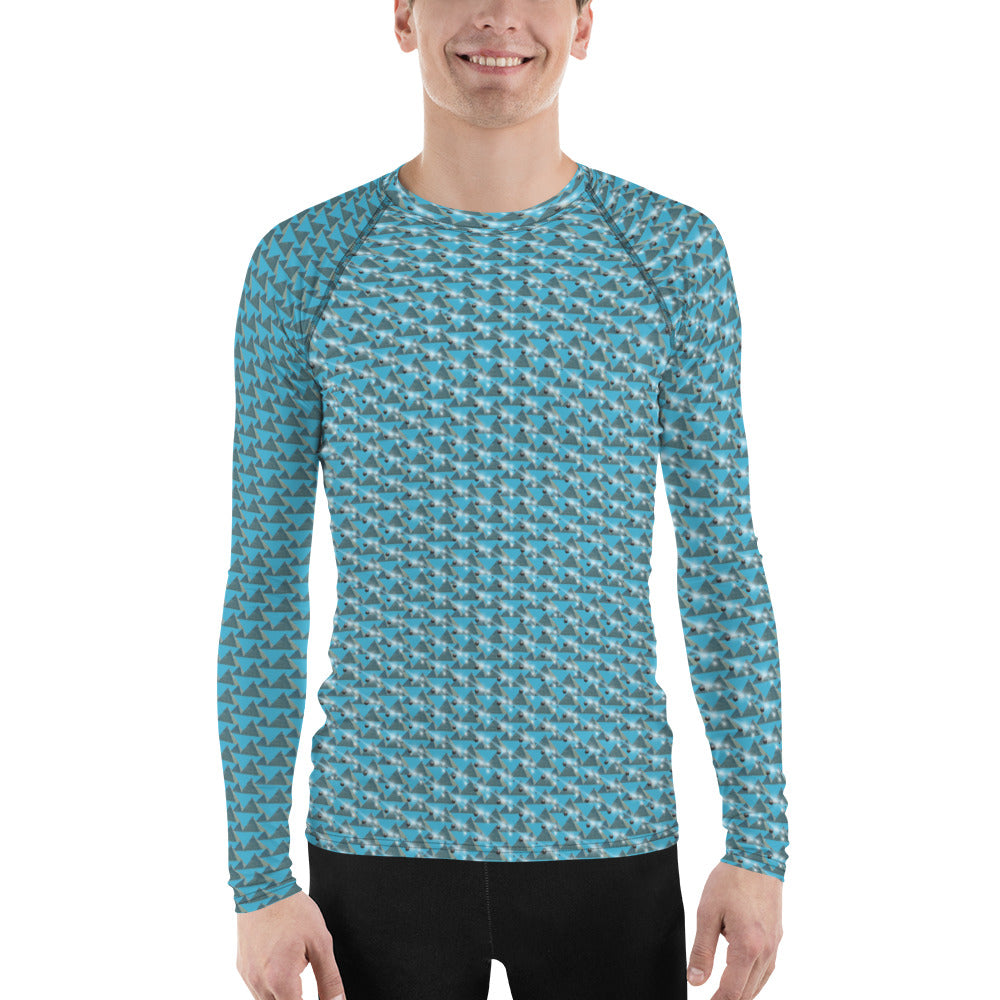 Pyramids and shooting stars Men's Rash Guard