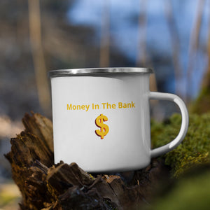 Money In The Bank Enamel Mug - 25% discount at check-out!