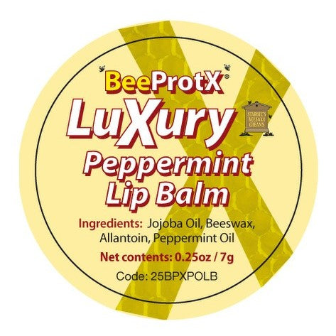 BeeProtX Peppermint Lip Balm label