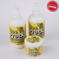 Set of 2 BeeProtX Hand & Foot Cream Pumpers and One Hand & Foot Cream Tub
