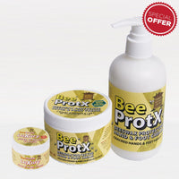 Set of BeeProtX Hand & Foot Cream Tub and Pumper with a Tub of Luxury Face & Body Cream