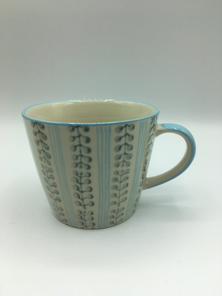 7116-Berry Stripe Ceramic Mug (various colours)