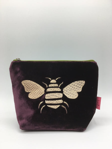 360-Small Velvet Cosmetic Purse (various designs and colours)