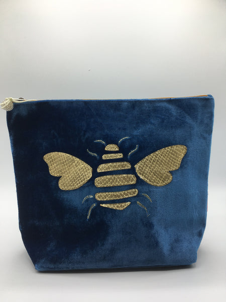356-Large Velvet Cosmetic Purse (various designs and colours)