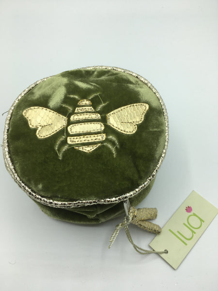 7240 - Round Velvet Jewellery Purse (various designs and colours)