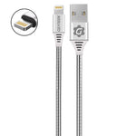 Cable Lightning (iPhone) Acero PowerSteel Garantizado