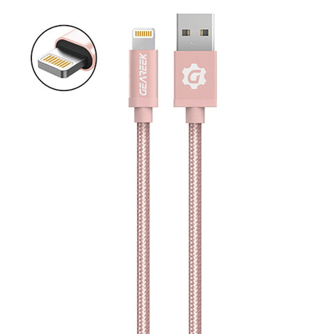 Cable Lightning (iPhone) Rosado Premium Braided