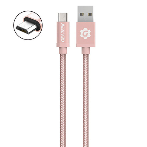 Cable Micro USB Rosado Premium Braided