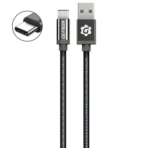 Cable Tipo C Negro Premium Braided
