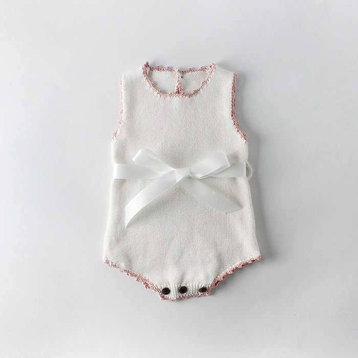 Baby Girl Handmade Butterfly Knit Wool Jumpsuit