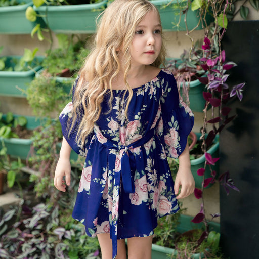 Mommy And Daughter Dresses - Lotus leaf printed