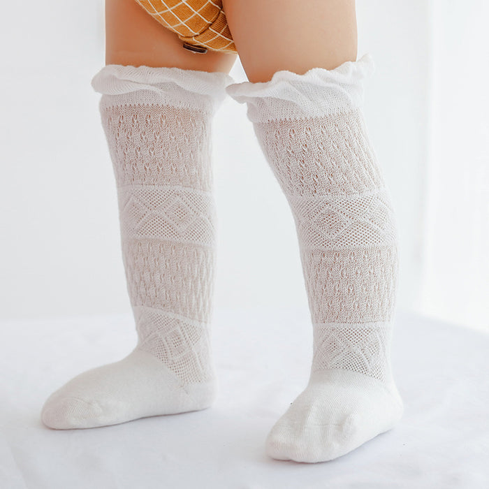 Thin Cotton Anti - Mosquito Baby Over - Knee Knit Stockings