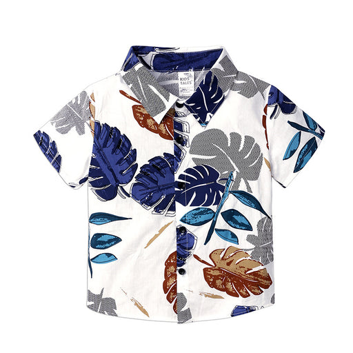 Boys' suit short-sleeved shirt, children's fashion shirt for children Set