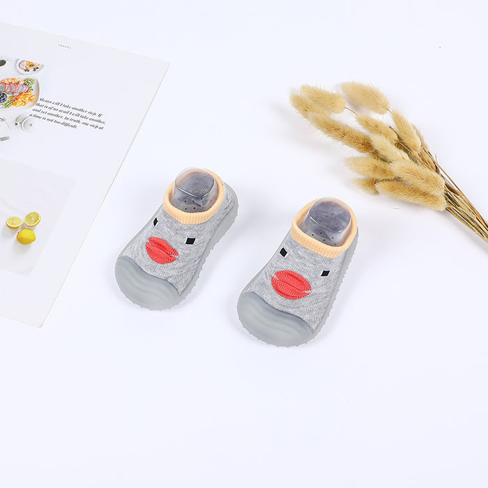 Crochet Knitted Baby Boy Happy Duck Shoes - Grey