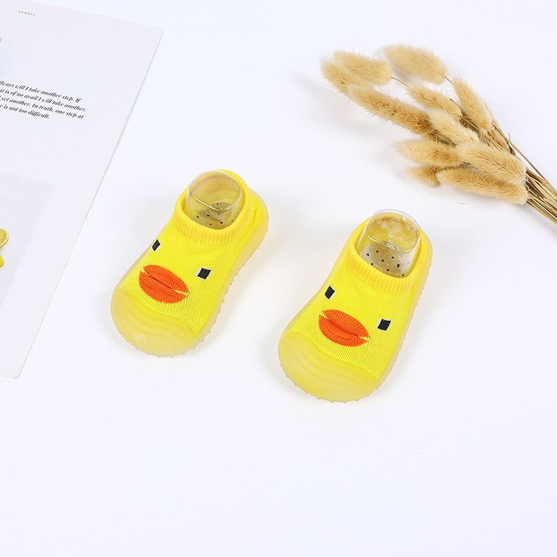 Crochet Knitted Baby Boy Happy Duck Shoes - Yellow