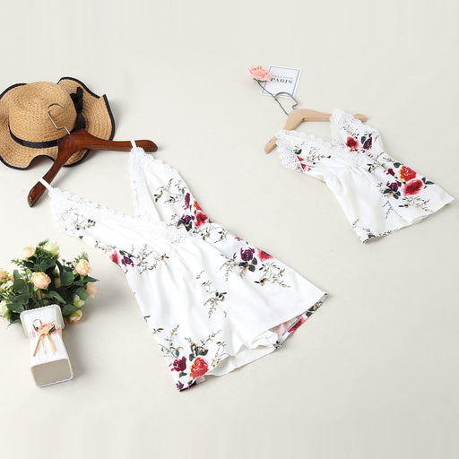 Mommy And Daughter Dresses - Floral print