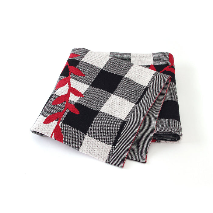 Christmas Tree Plaid Cover Blanket Children Knitted Air Conditioning Blanket Nap Wrap