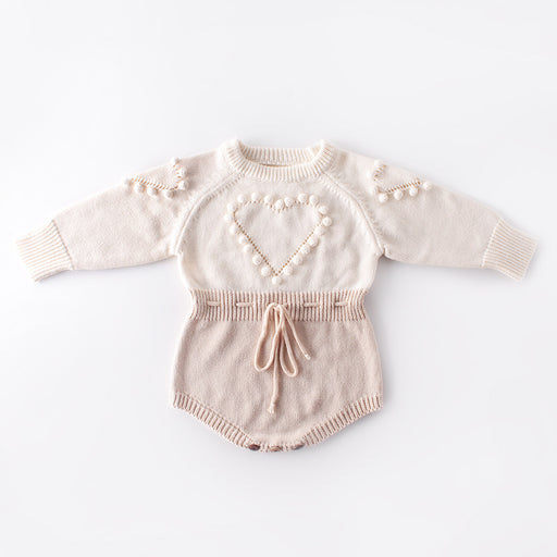 Handmade Love Sweater Baby Knit Jumpsuit