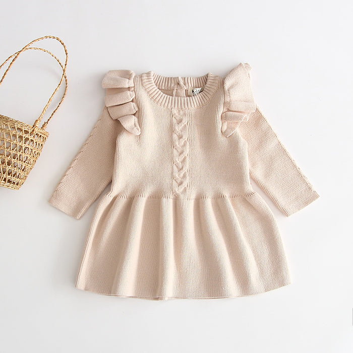 Girl Baby Warm Knitted Princess Wool Dress