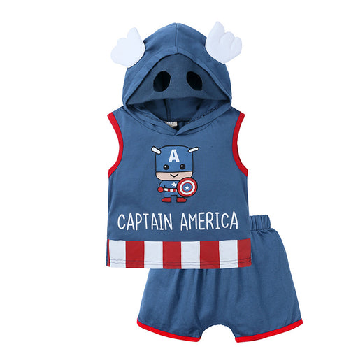 Baby boy captain vest costume