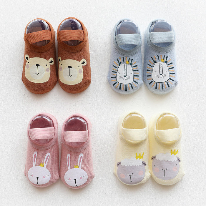 Crochet Knit Cartoon Printing Glue Baby Non-slip Toddler Shoes