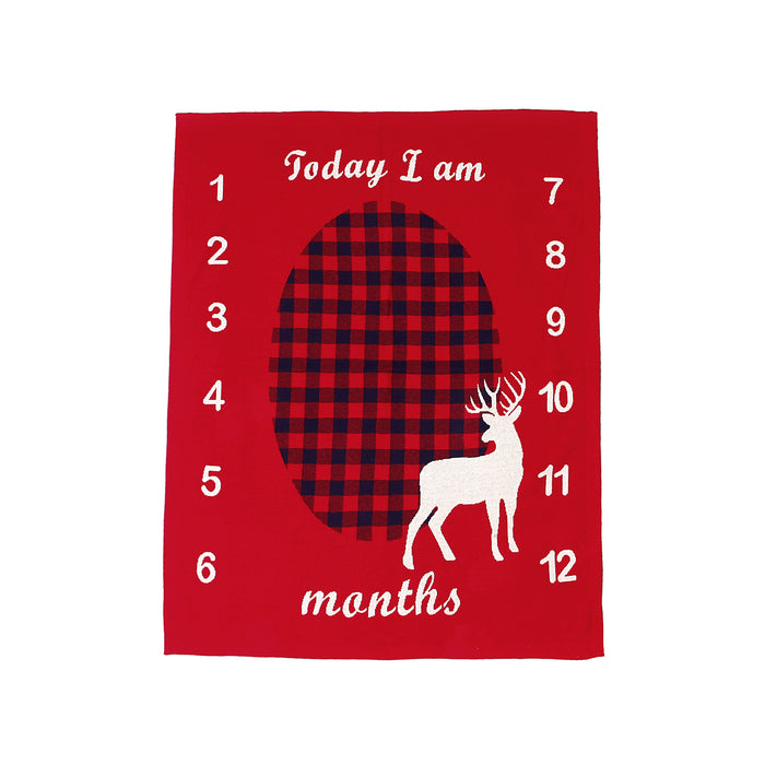 Baby milestone blanket children photo shoot knitted blanket Christmas gifts