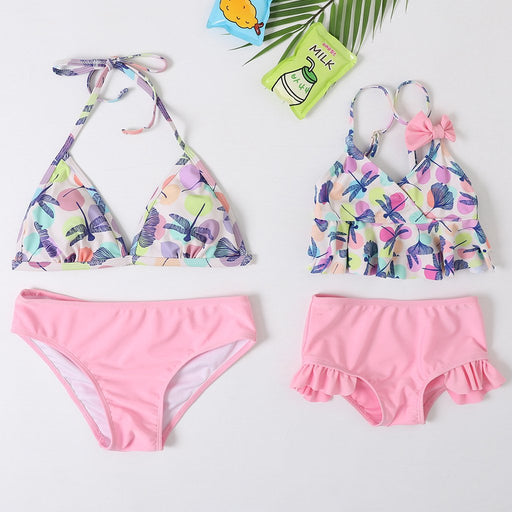 Mommy And Daughter Swimwear -  Fission triangle