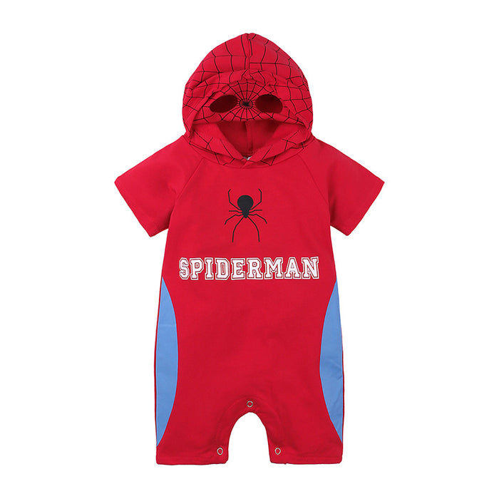 Baby boy cartoon spiderman jumpsuit