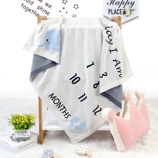 Baby Milestone Blanket Children's Photo Shoot Memorial Blanket Knitted Blanket