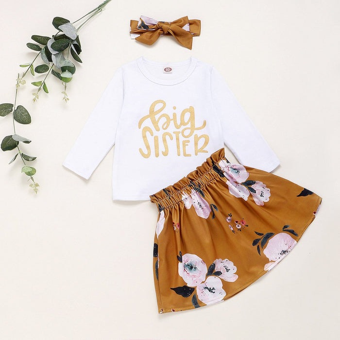 Big Sister Little Sister Suit - Gold lettering