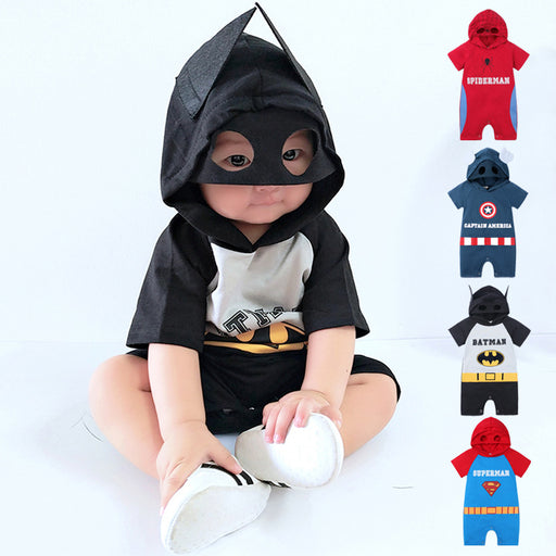 Baby boy Batman cartoon shape robe climbing clothes