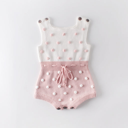 Baby Knitted Wool Ball Ball Jumpsuit